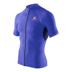 X-Bionic The Trick Biking Shirt SS Full Zip Men Royal Blue/Black